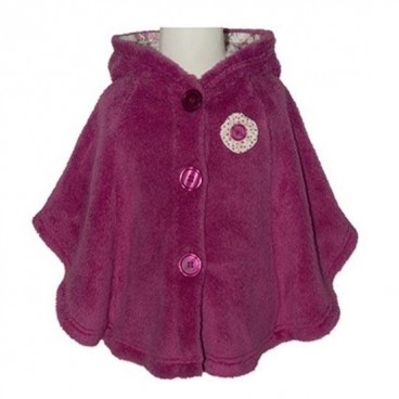 4b3ad44c994d Little Plums Munchkins Fleece and Faux Fur Hooded Jacket- Baby Girls ...