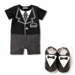 Pin Stripe Tuxedo Set Including Matching Shoes - Formal/Wedding Attire