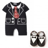 Little Gentleman Tuxedo Set Including Matching Shoes