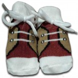 Cream & Brown Baby Shoes/Socks- Babies Accessories