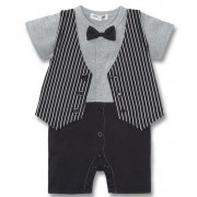 Tuxedo On The Run 1 Piece Romper - Formal/Wedding Attire