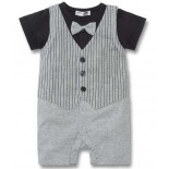 Tuxedo On The Go 1 Piece Romper - Formal/Wedding Attire