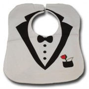 White Tuxedo Waterproof Bib - Babies Accessories