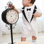 Classy Tuxedo 1 Piece Onesie/Romper - Formal/Wedding Attire