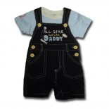 All Star Like My Daddy 2 Pieces Set - Baby Boys Clothes