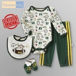 Vitamins Baby© Aussie Footy Star Gift Pack/4 Pieces Baby Set- Baby Boys Clothes