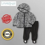 Lovespun© Infant Girl's Hoodie Jacket & Footed Pants 2 Pieces Set - Baby Girls & Baby Boys Clothes