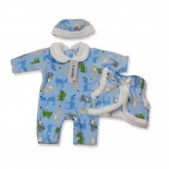 Winter Woof Comforter 3 Pieces Set - Baby Boys Clothes
