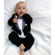 Best Man Tuxedo 1 Piece Onesie / Romper - Formal Wedding Attire